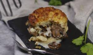 Gâteaux de pommes de terre champignons cancoillotte