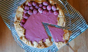Cheesecake rustique à la framboise