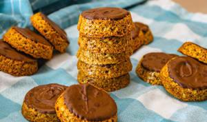 Biscuit suédois aux flocons d'avoine et chocolat