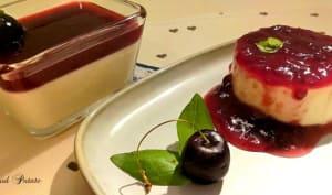 Pannacotta aux fruits rouges et basilic