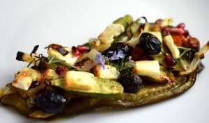 Tartine de légumes rôtis à la feta