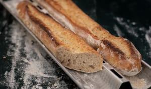Baguette au levain naturel faite maison
