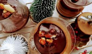 Crème au café et ganache chocolat noir