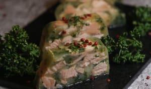Persillé de saumon en gelée de légumes