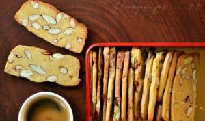 Biscuits fins, amandes, vanille