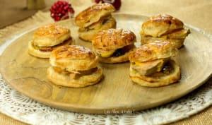 Mini galettes des rois au foie gras