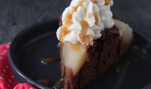 Gâteau chocolat poires