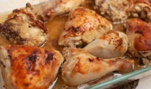 Cuisses de poulet sans huile sans friture marinées et rôties au four