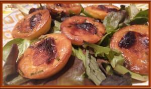 Bouchées au Chavignol, miel et ciboulette