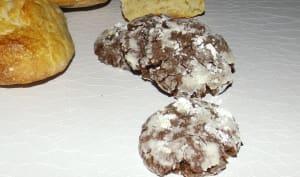 Crinkles au chocolat et à la farine de pain sec