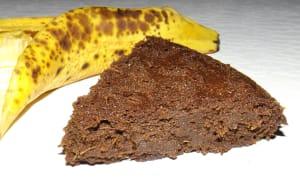 Fondant au chocolat et aux peaux de banane