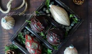 Boules en chocolat