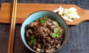 Quinoa rouge et chou chinois