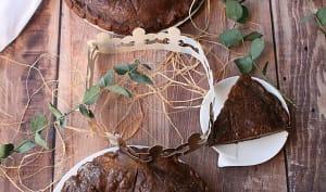 Galette des rois crème de pralin, pépites de chocolat, rhum