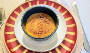 Crème brulée au foie gras et sa compotée de pommes