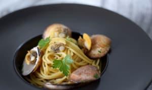 Spaghetti aux amandes de mer