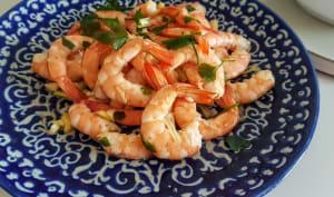 Crevettes marinées, sans cuisson