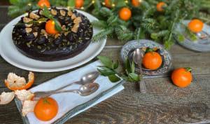 Gâteau aux clémentines glacé au chocolat