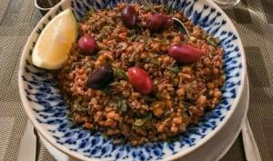 Lentilles et riz en pilaf
