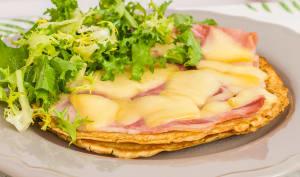 Crapiau aux cèpes, jambon et fromage