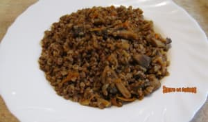 Sarrasin aux champignons et carottes