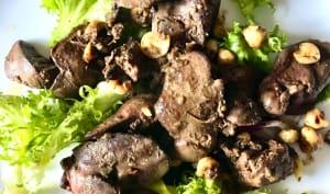 Salade marocaine aux foies de volaille