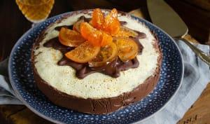 Gâteau de crêpes chocolat orange