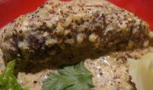 Andouillette sauce moutarde àl'ancienne et vin blanc