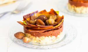 Duo de purée aux pommes de terre, marrons et carottes colorées