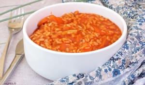 Riz aux légumes et à la tomate