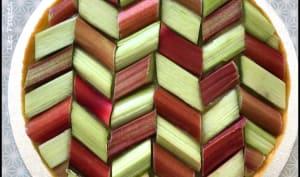 Tarte géométrique à la rhubarbe