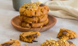Les cookies à la pistache et au caramel