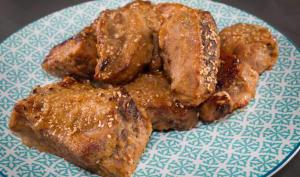 Travers de porc laqués chinois