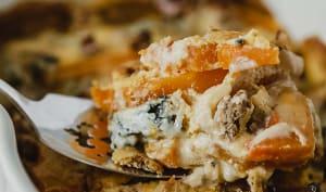 Gratin de butternut, fourme d'Ambert et noix