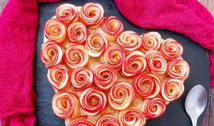 Tarte coeur aux pommes de Saint-Valentin