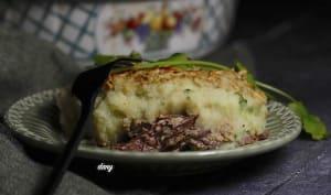Hachis parmentier de canard au brocoli et au foie gras