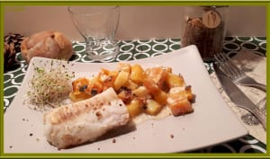 Cabillaud sur rutabaga et butternut rôtis