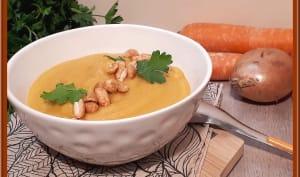 Soupe de carottes et cacahuètes