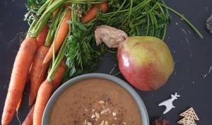 Soupe carotte poire gingembre
