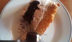 Gâteau entremet café noisette chocolat léger
