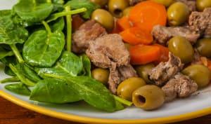 Mijoté de sanglier aux carottes et olives