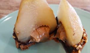 Tartelettes poires chocolat caramel praliné