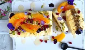 Semifreddo à la fleur d'oranger miel et baklava