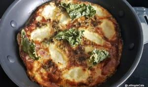 Omelette au chou kale déshydraté