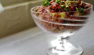 Chou Kale, crudités et semoule