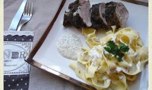 Filet mignon à la moutarde et graines de pavot