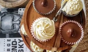 Cupcake sans beurre, ganache chocolat blanc combawa