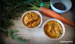 Flan de carottes au cerfeuil et au pavot