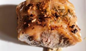 Rôti de porc à l'ail et au romarin