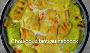 Chou-doux farci au haddock